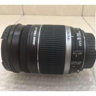 DSLR Canon lens EF-S 18-200 mm
