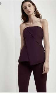 C/meo - don't stop bustier in aubergine size S
