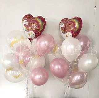 Helium Balloons (Unicorn)