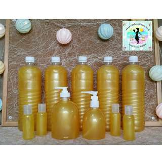 Scented & Anti-Bacterial Liquid Hand Soap Set of 11 Bottles (1 Liter/500 mL/250 mL/50 mL) -- all for P900.00
