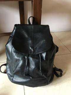 backpack ransel leather