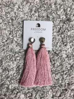 Topshop freedom pink Tassel Earrings
