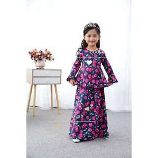 Coolelves kids girl baju peplum