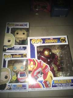 Pop funko Thor glow in dark hulkbuster infinity war civil