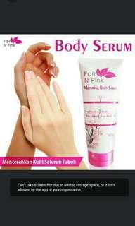 Fair n pink body serum pemutih badan