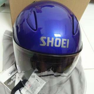 Helmet shoei jstream biru