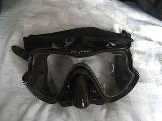 Mares pure vision black diving mask