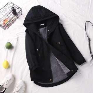 Winter coat black parka