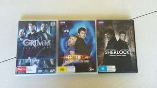DVD BUNDLE $15 Sherlock Doctor Who and Grimm