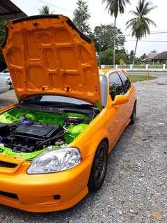 Honda Civic EK9 B20 Engine