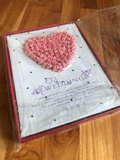Brand New Wedding Guest Signing book album
