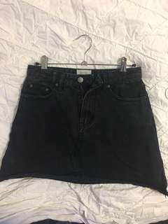 Insight black denim skirt