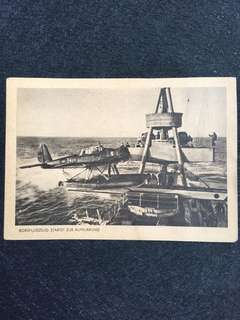 "Germany Third Reich WW2 ""Aircraft taking off for Reconnaissance Postcard Unused"