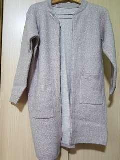 Long Pink Cardigan Jacket Sweater