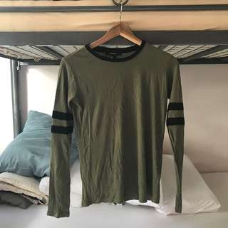 FOREVER21 Long Sleeved Top (Army Green)