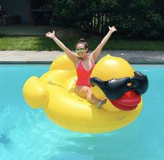 Giant Rubber Yellow Duck Pool Float