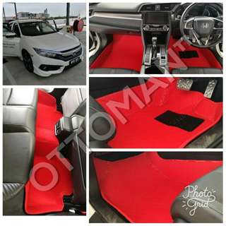 OTTOMAN PU LEATHER CAR CARPET FOR HONDA OWNER