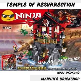 Latest! NINJAGO Temple Of Resurrection Building Block Toy