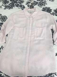 Forever New Pink & White Stripe Shirt