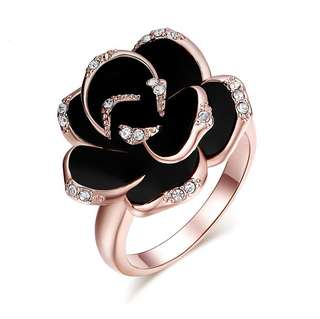 [SALES]🌹3 COLOURS ROMANTIC ROSE FLOWER RING WOMEN FASHION JEWELRY🌹