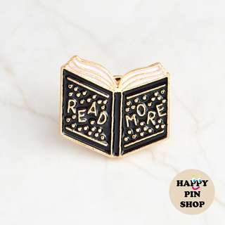 """Read More"" book enamel pin (Good Advice series)"