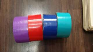 COLORED DUCT TAPES [GET 1 FOR Php 80, GET ALL 4 FOR Php 250]
