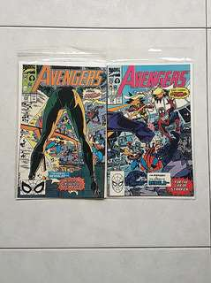 Marvel Comics Avengers 315 and 316 Near Mint Condition Spider-Man Joins the Avengers Infinity War Movie