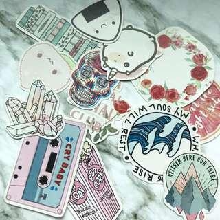 tumblr stickers grabbag : pink series tumblr stickers 💗