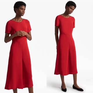 FCUK Red Esther Crepe Jumpsuit XS
