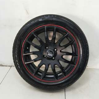 16 '' Sports Rim With Tyres 4x100 (SR1092)