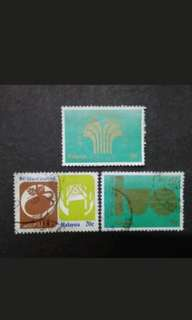 Malaysia 1978 100 Years Of Natural Rubber Complete Set - 3v Used Stamps #2