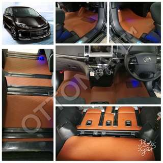 OTTOMAN PU LEATHER CAR CARPET TOYOTA ESTIMA
