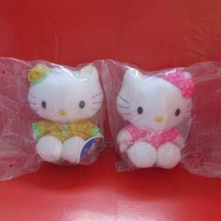 Hello Kitty X McDonald's 公仔1對 (中國服)(無拆袋)