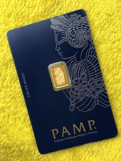 PAMP Pure Gold Bars (various weights)