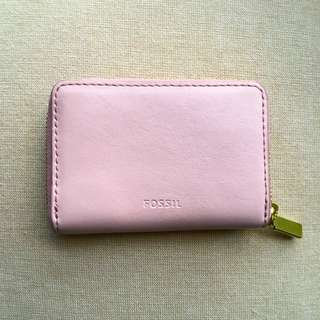 Fossil light pink blush RFID Card wallet