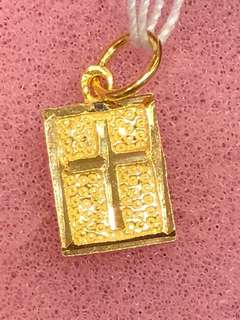 Gold 916 - Cross Pendent (real gold 916)