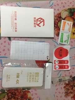 小米/紅米 4X 鋼化膜連透明軟殻 $25包郵