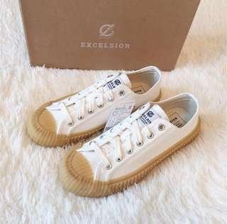 韓國代購 Excelsior 餅乾鞋 焦糖餅乾鞋 白色黃底