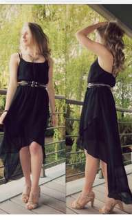 Newlook High Low Dress (Navy)