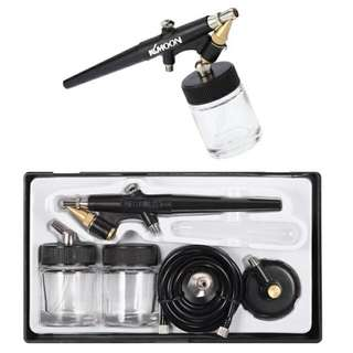 Airbrush Set 0.8mm Suction Feed Type KKMoon Brand Great For Art, Models, Nails And Primer Coating Brand NEW in Box Only The Spray Gun And Compressor Not Included