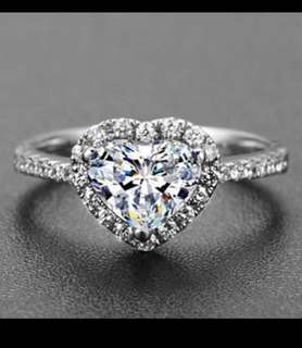Love Arrows Heart Diamond stimulant Ring