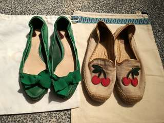 Tory Burch & Chloe Flats Shoes x 2 pairs