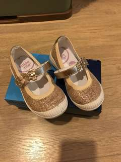 Gold glitter Mary Jane Stride Rite Shoes