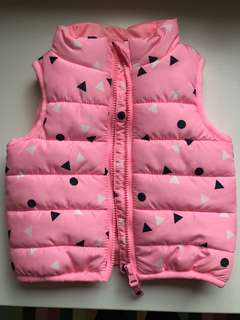 Sleeveless bomber jacket 0-3 months