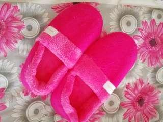 Pink bedroom slippers