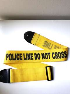 'Police Line Do Not Cross' guitar/bass strap