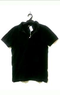 (L) Silent Theory Men's Polo Black T-Shirt Top RRP $59.95