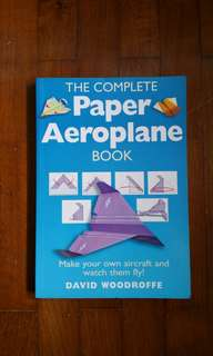50%off! New! Paper Aeroplane book with 90 model cut outs