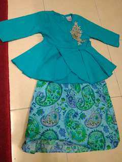 Peplum cotton terqoise