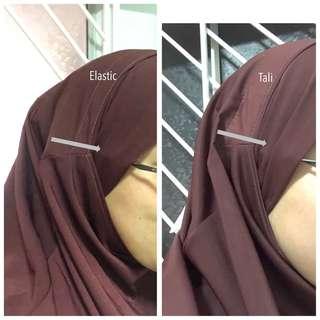 Khimar headband V (with elastic band)
